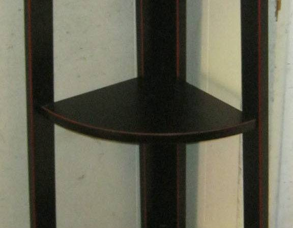 Uhuru Furniture Collectibles Black Corner Shelf Sold