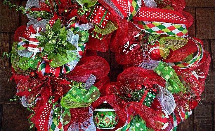 Unique Christmas Mesh Wreaths Ideas Pinterest