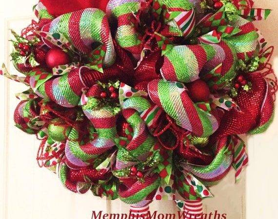Unique Christmas Wreaths Deco Mesh Ideas Pinterest