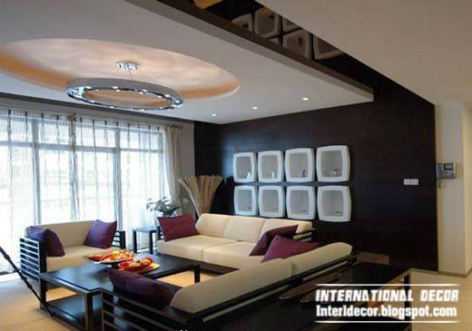 Unique False Ceiling Modern Designs Interior Living Room