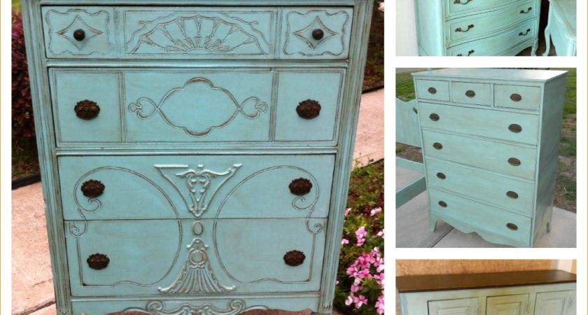 Unique Painted Furniture Distressed Wood Shabby Chic