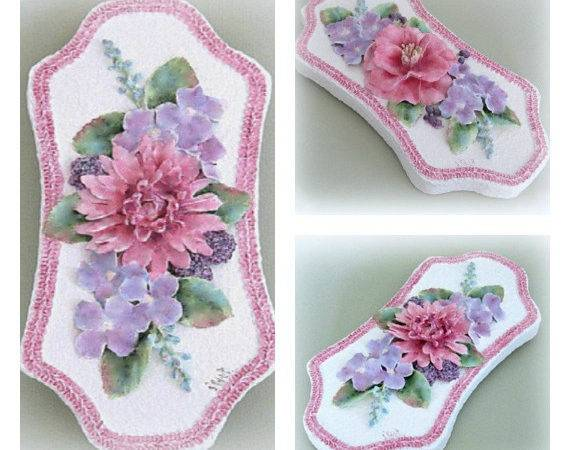 Unique Shabby Chic Flower Wall Cor Cottage Art