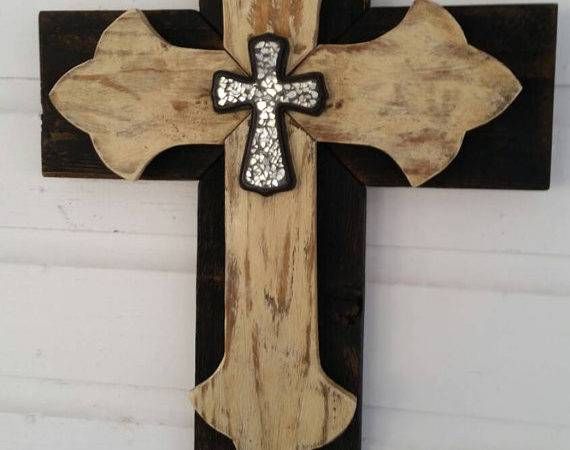 Unique Shabby Chic Wall Cross Sale Rustic Wood Hanging