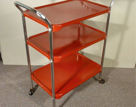 Upcycle Metal Kitchen Cart Vintage Rolling