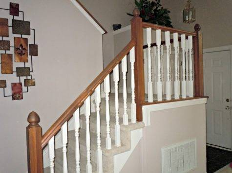 Updating Painted Banister Gel Stain