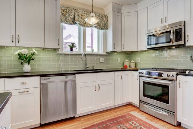 Upper Arlington Modern Retro Kitchen Transitional