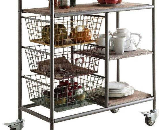 Urban Collection Kitchen Trolley Industrial Bar Carts