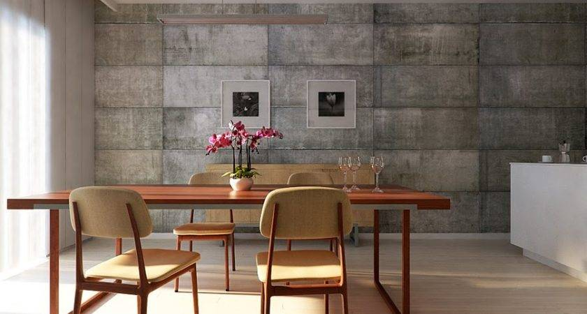 Utilitarian Dining Room Wall Interior Design Ideas