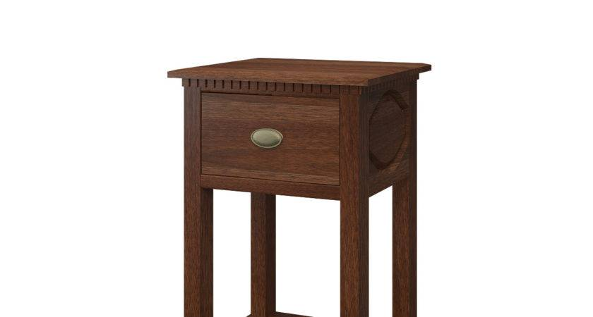 Valencia Nightstand Shelves Solid Wood