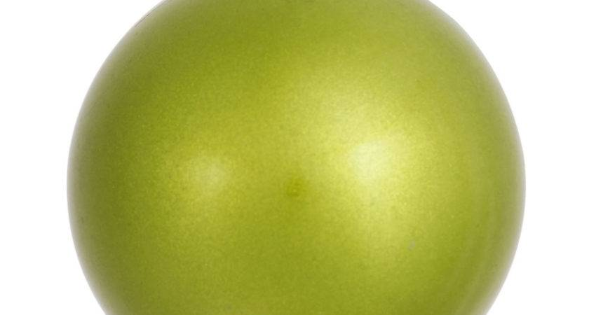 Vco Lime Green Candy Drilled Shatterproof Christmas