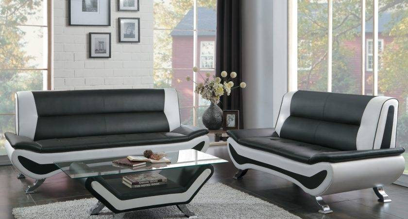 Veloce Black Ivory Living Room Furniture Collection