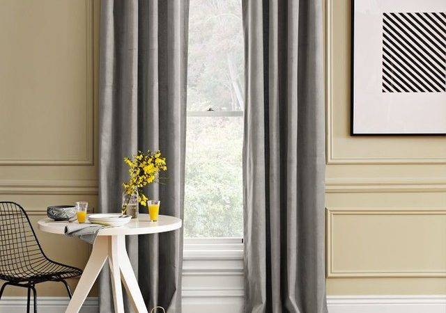 Velvet Window Panel Dove Gray Traditional Curtains
