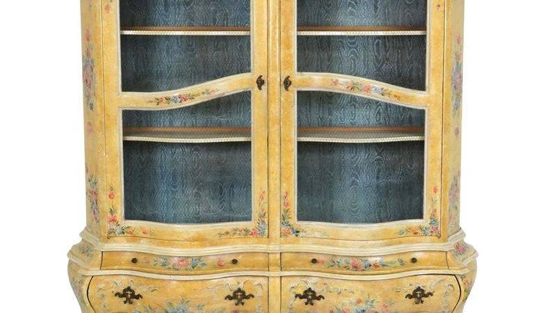 Venetian Paint Decorated China Cabinet Sale Stdibs