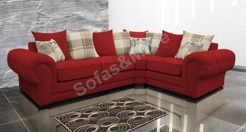 Verona Fabric Corner Sofa Velour Chesterfield Style Right