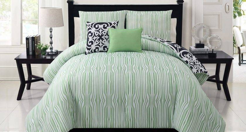 Victoria Classics Black Green Kennedy Comforter Set Zulily