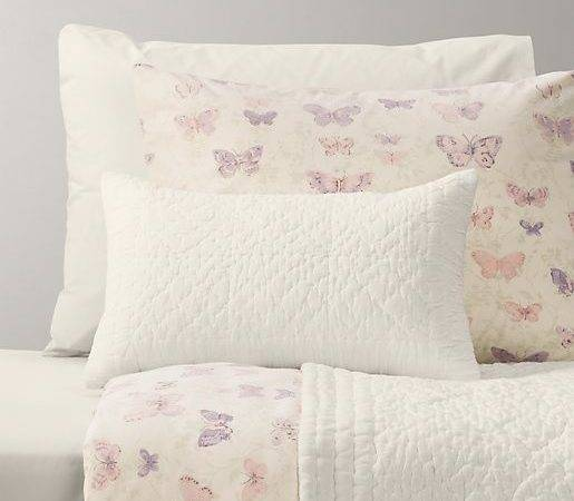 Vintage Butterfly European Washed Percale