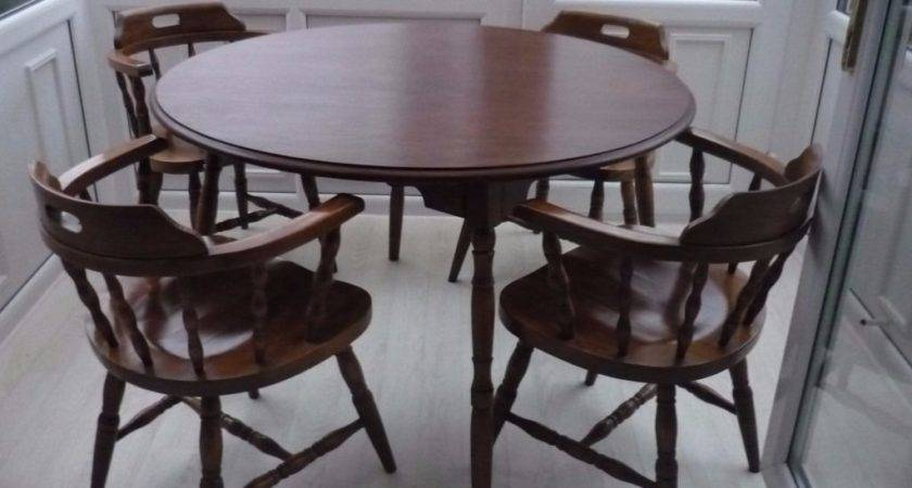 Vintage Capitans Chairs Table Bow Cottage