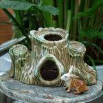 Vintage Ceramic Aquarium Decor Tree Stumps Made