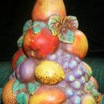 Vintage Ceramic Fruit Topiary Centerpiece