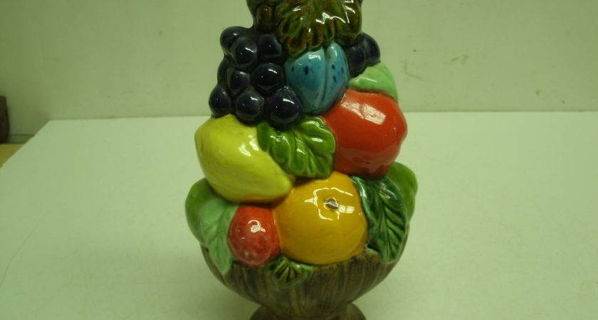 Vintage Ceramic Fruit Topiary Home Decor Table
