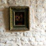Vintage Frame Old Stone Wall French Country Style Honey