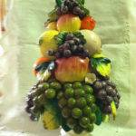 Vintage Fruit Centerpiece Pyramid Topiary Luvuniquethings