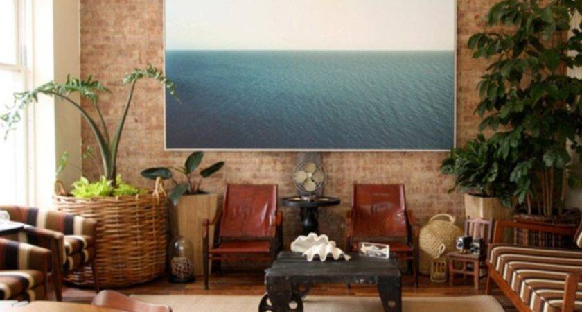 Vintage Living Room Exposed Brick Decor Homedecort