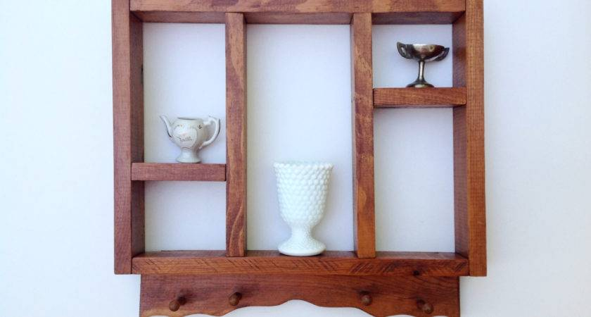 Vintage Rustic Wood Display Shelves Primitive