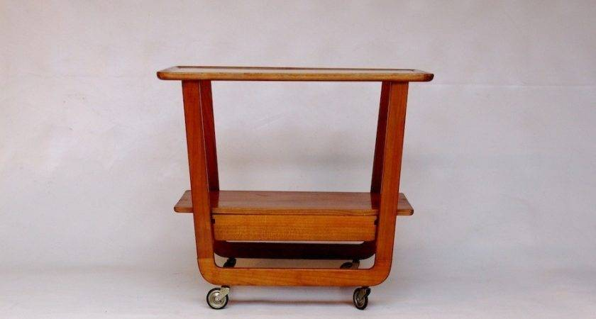 Vintage Trolley Bar Cart Cassina Style Goed Als Oud