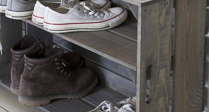 Vintage Welly Shoe Crate Home Furniture Store