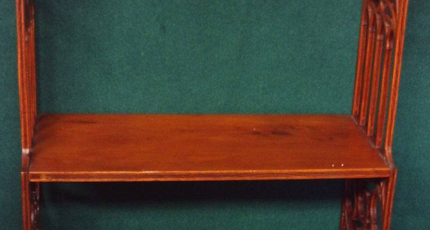 Vintage Wood Wooden Tier Wall Hanging Fretwork Carved