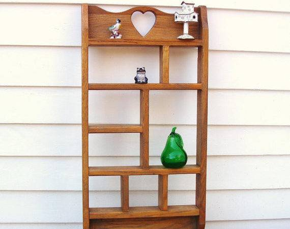 Vintage Wooden Knick Knack Shelf Wall Mounted Whimzythyme