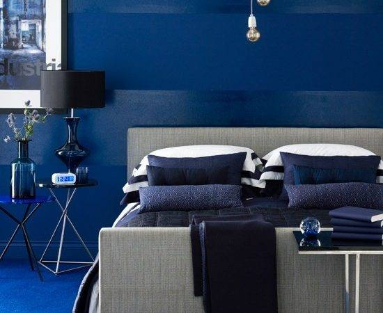 Vivid Blue Bedroom Indigo Colour Schemes Home