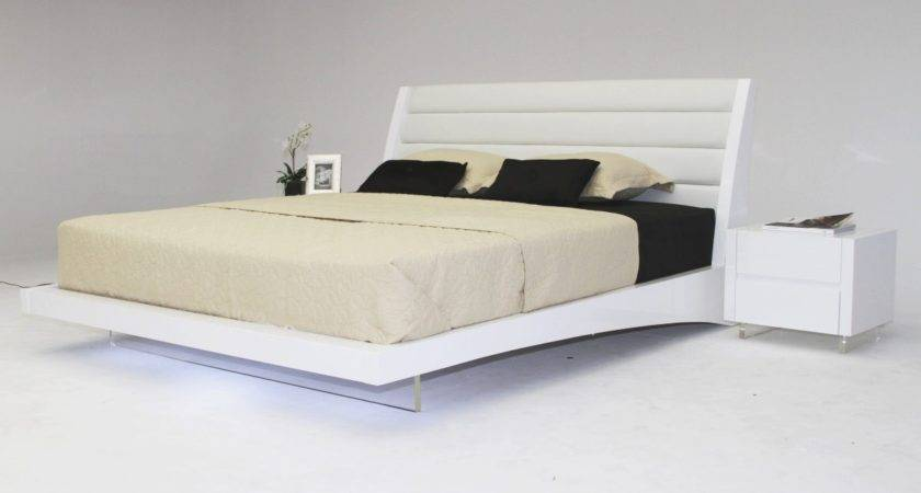 Volterra Contemporary Floating Bed Lights Modern