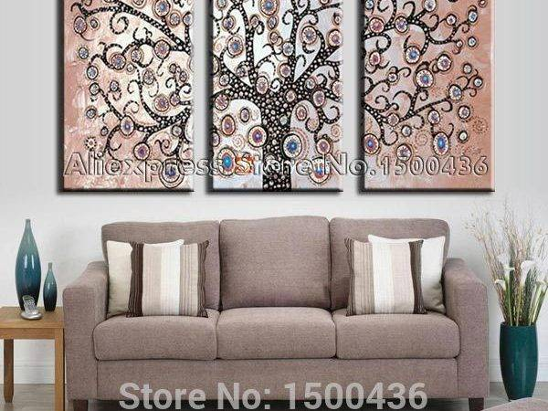 Wall Art Designs Living Room Hand Painted
