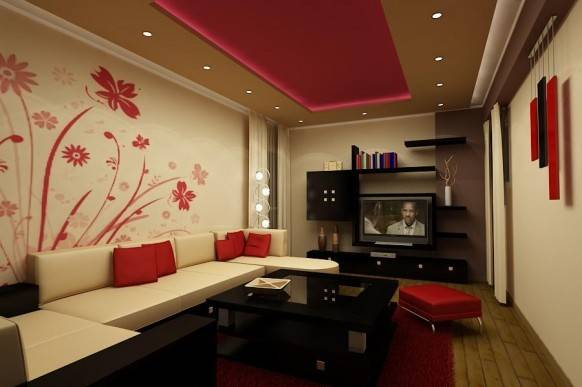 Wall Decorating Designs Living Room Decoration