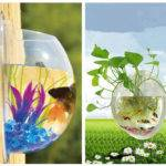 Wall Mount Hanging Fish Tank Aquarium Plant Pot Bowl