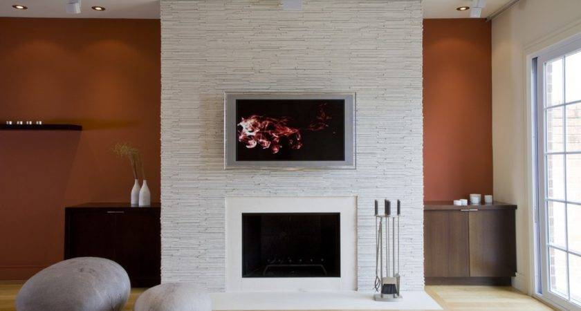 Wall Mounted Fireplace Ideas Living Room Contemporary