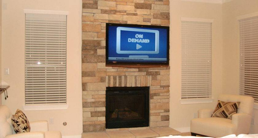 Wall Mounted Ideas Above Fireplace Finest Interior