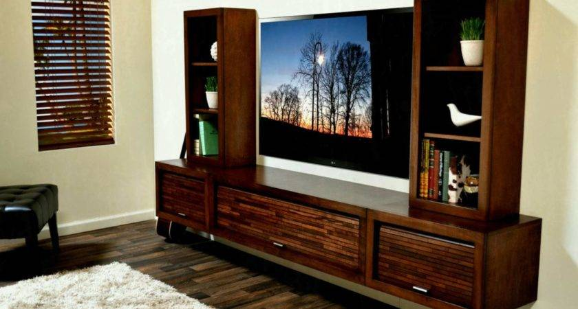 Wall Units Furniture Centers Floating Wooden Cabinet