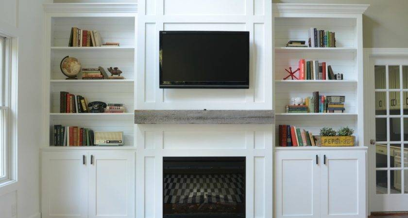 Wall Units Interesting Built Bookshelves Cabinets