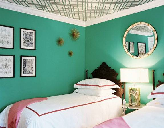 Walls Painted Blue Green Home Design Inside