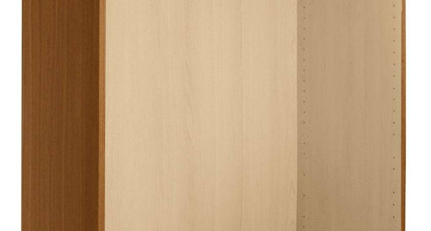 Walnut Effect Double Combi Wardrobe Carcass