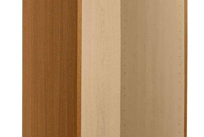 Walnut Effect Single Combi Wardrobe Carcass