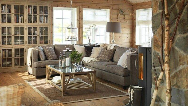 Warm Comfortable Swedish Wooden House Interior
