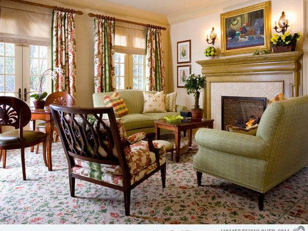 Warm Cozy Country Inspired Living Room Design Ideas