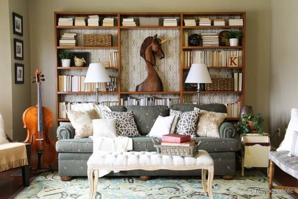Warm Inviting Living Room Makeover Tight Budget