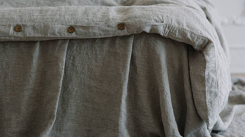 Washed Linen Duvet Cover Soft Pure Shipping