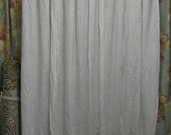 Washed Linen Shower Curtain Ruffled Towels