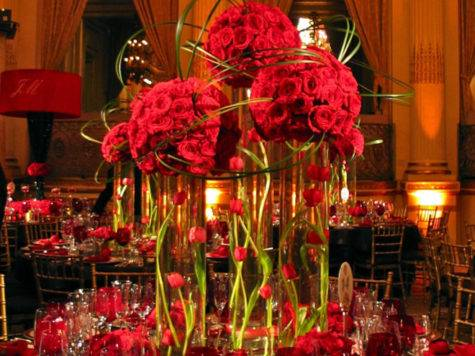 Wedding Centerpieces Pinterest Red